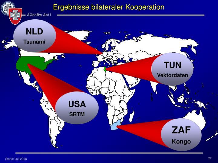 Ergebnisse bilateraler Kooperation
