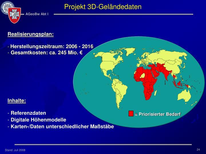 Projekt 3D-Geländedaten
