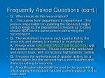 frequently asked questions cont