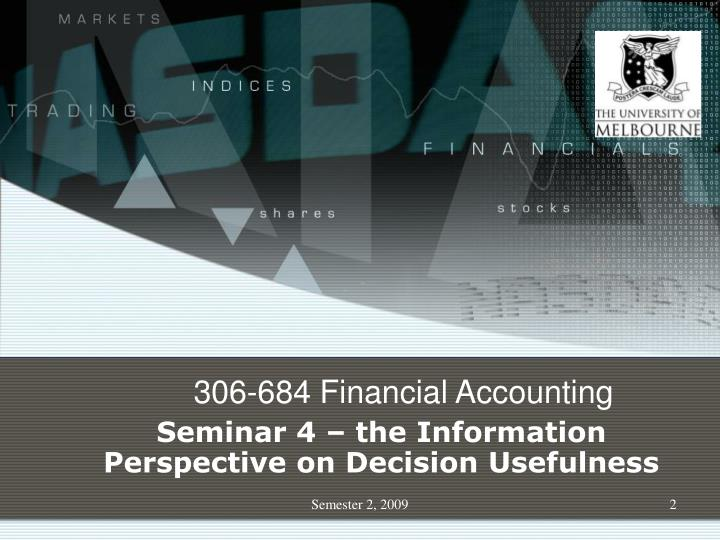 306-684 Financial Accounting