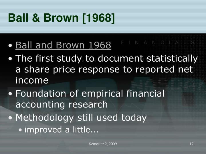 Ball & Brown [1968]