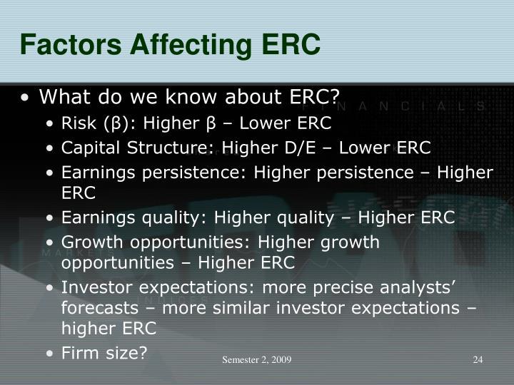 Factors Affecting ERC