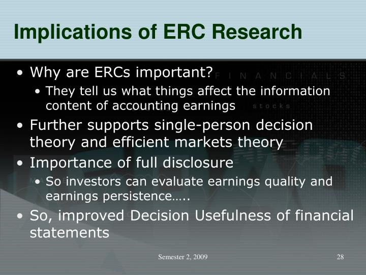 Implications of ERC Research