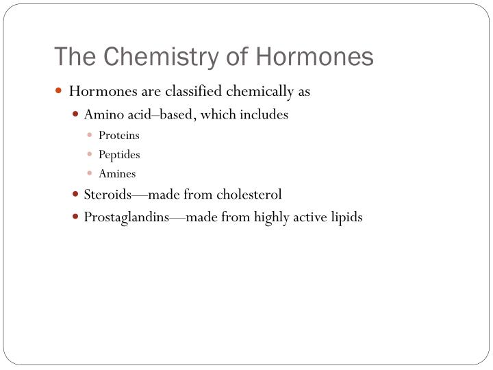The Chemistry of Hormones