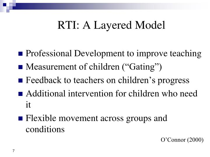 RTI: A Layered Model