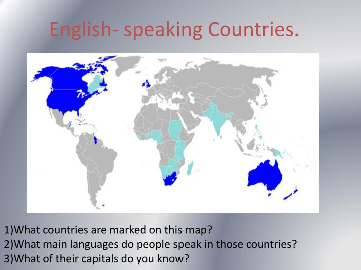 ppt english speaking countries powerpoint presentation