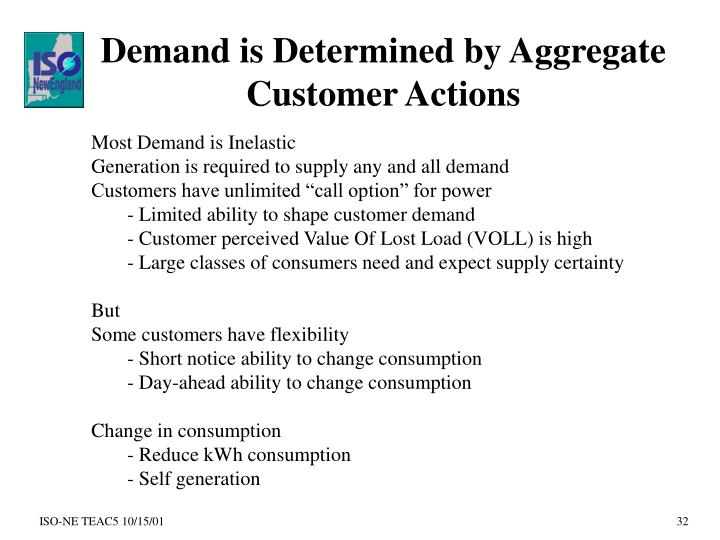 Demand is Determined by Aggregate Customer Actions