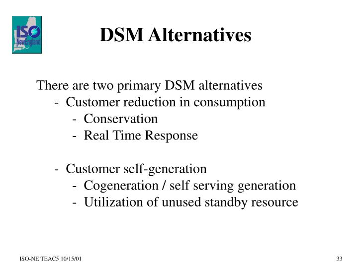 DSM Alternatives