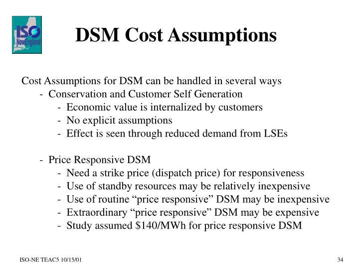 DSM Cost Assumptions