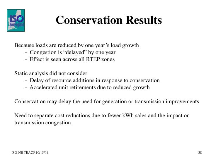 Conservation Results