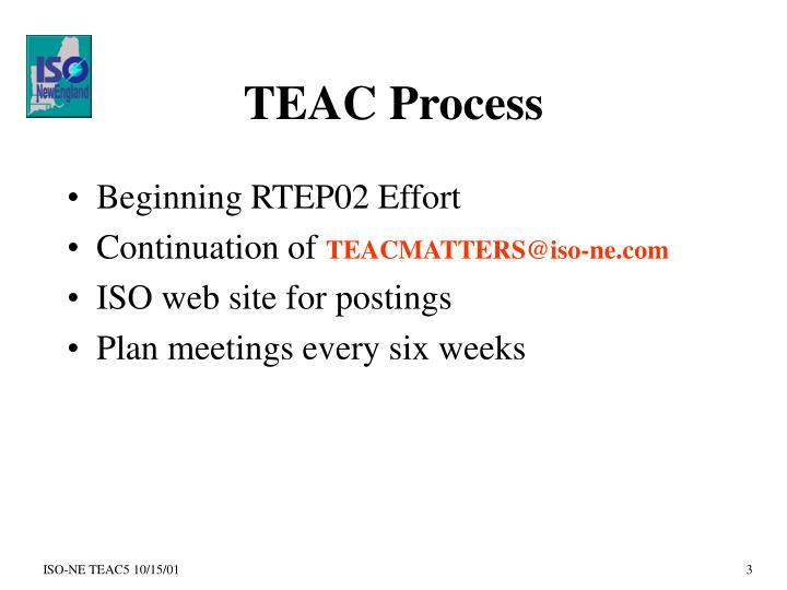 TEAC Process