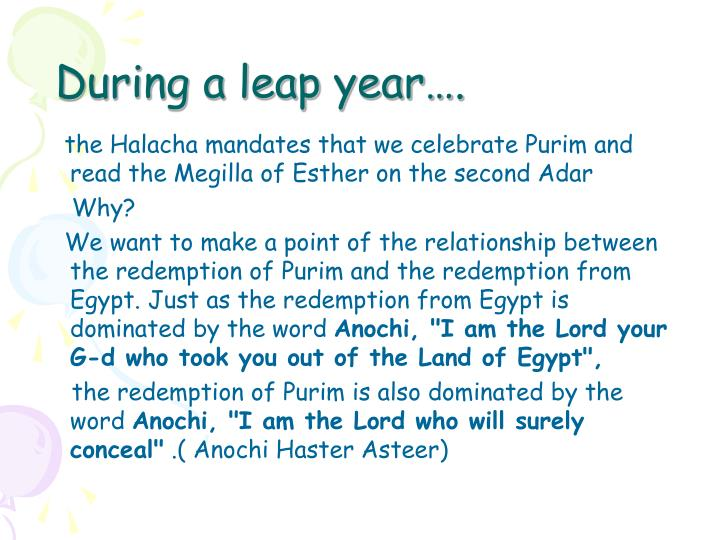 During a leap year….