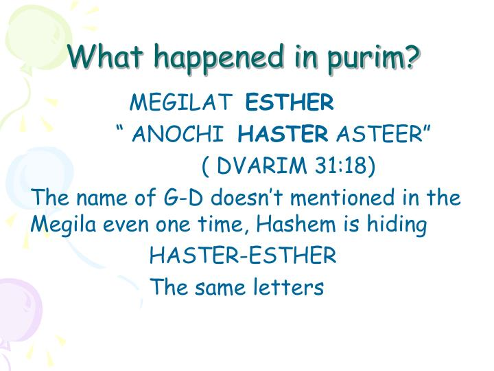 What happened in purim?