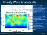 gravity wave analysis 6