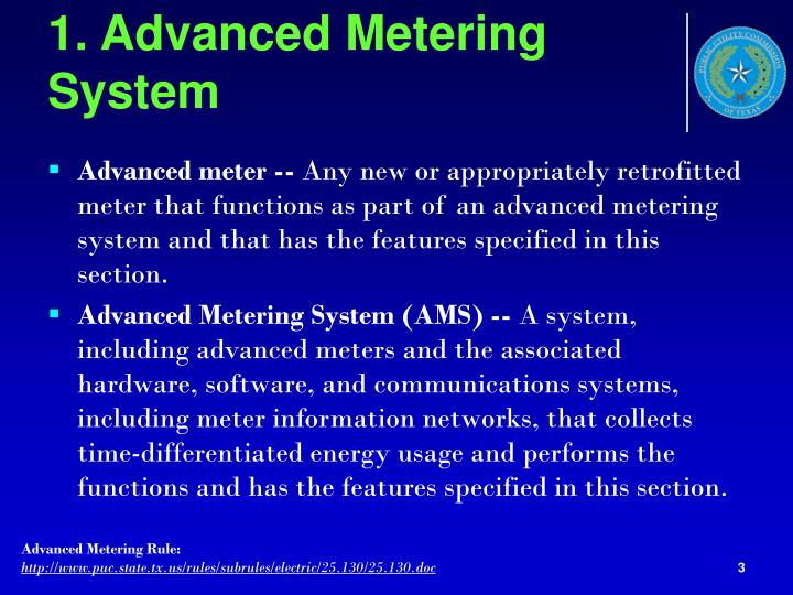 1 advanced metering system