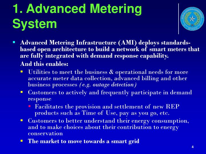 1. Advanced Metering System