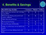 4 benefits savings