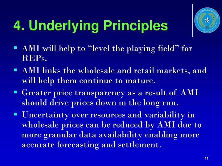 4. Underlying Principles