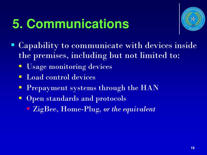 5. Communications