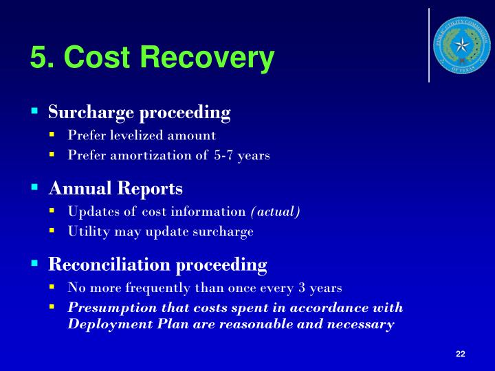 5. Cost Recovery