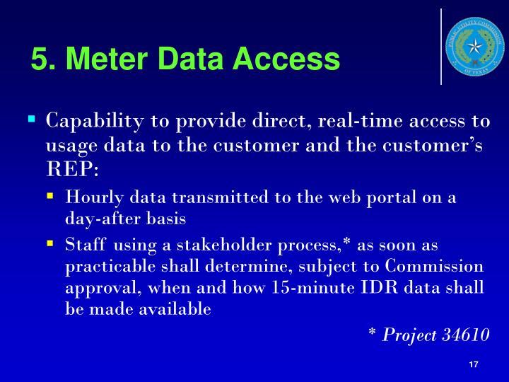 5. Meter Data Access
