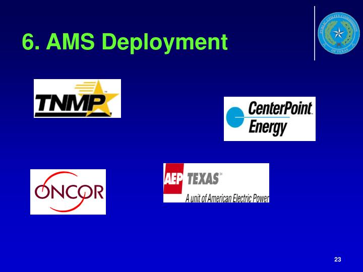 6. AMS Deployment