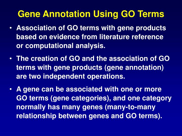Gene Annotation Using GO Terms