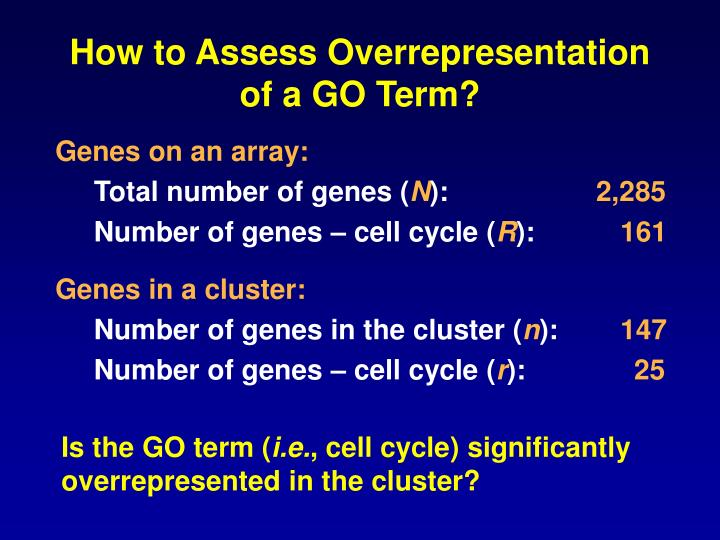 How to Assess Overrepresentation of a GO Term?