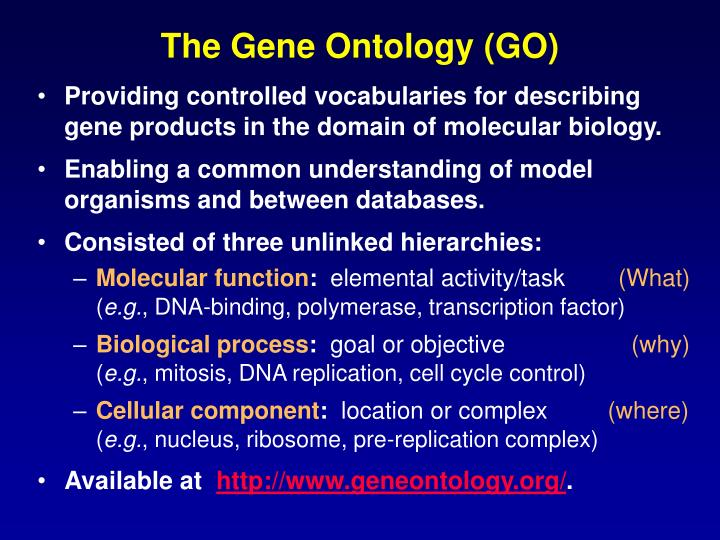 The Gene Ontology (GO)