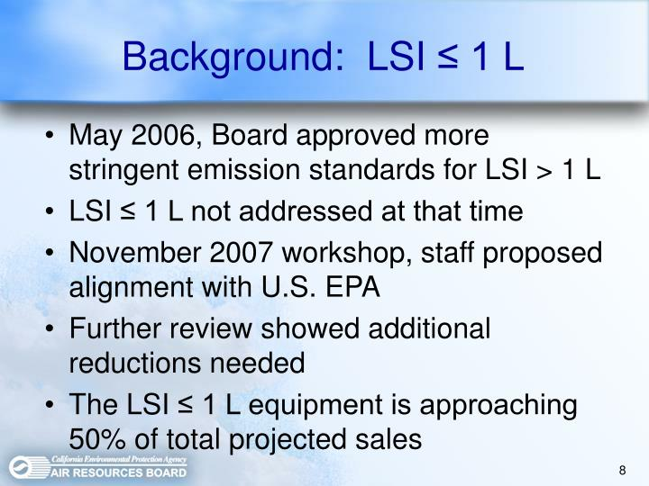 Background:  LSI