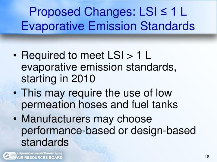 Proposed Changes: LSI
