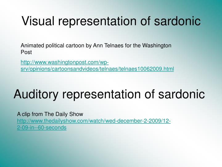 Visual representation of sardonic