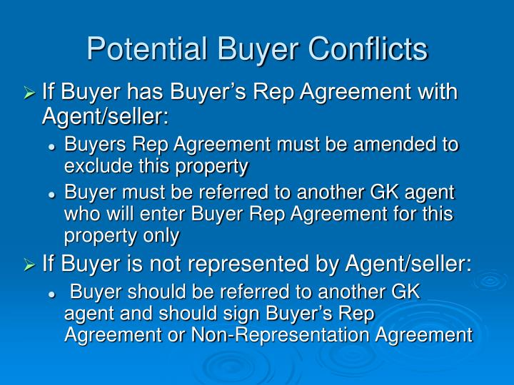 Potential Buyer Conflicts