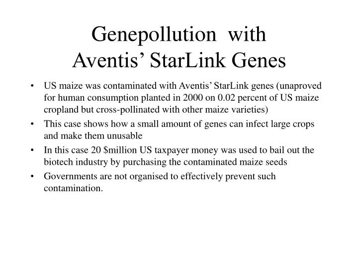 Genepollution  with