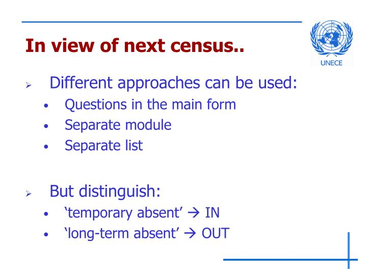 In view of next census..