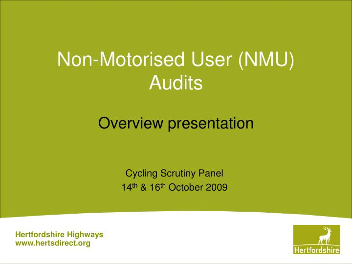 non motorised user nmu audits
