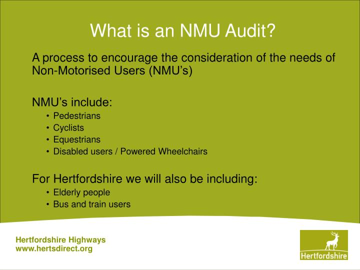 What is an nmu audit