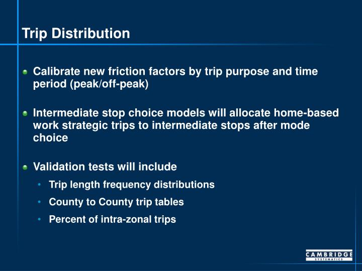 Trip Distribution