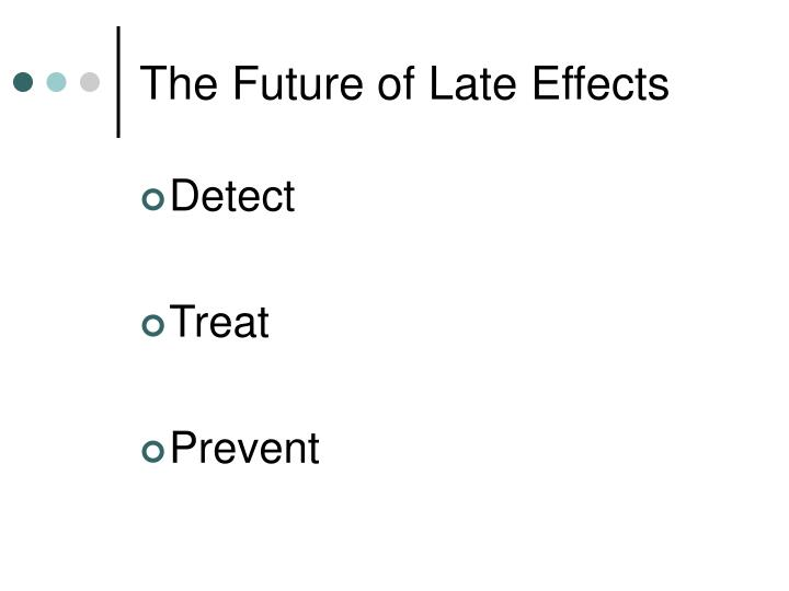 The Future of Late Effects
