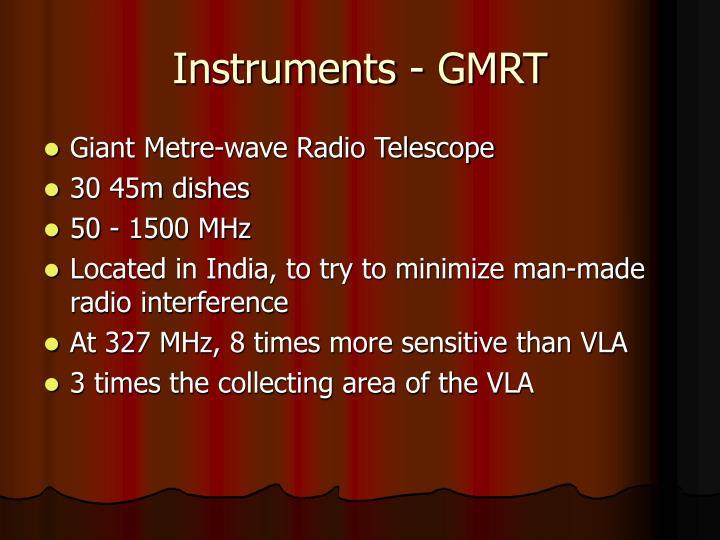 Instruments - GMRT