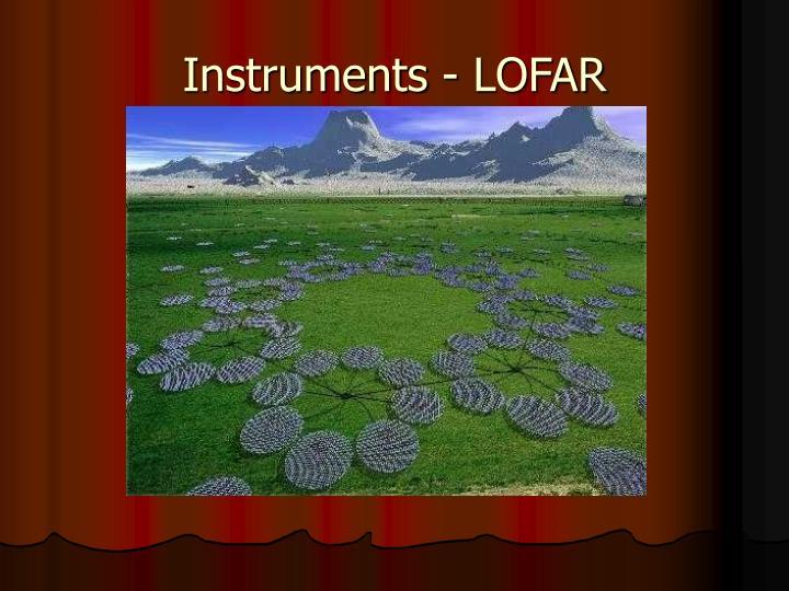 Instruments - LOFAR