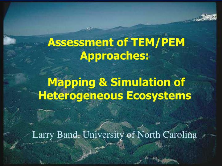 Mapping and simulation of heterogeneous ecosystems