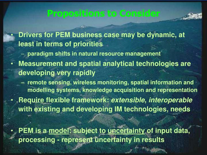 Propositions to Consider