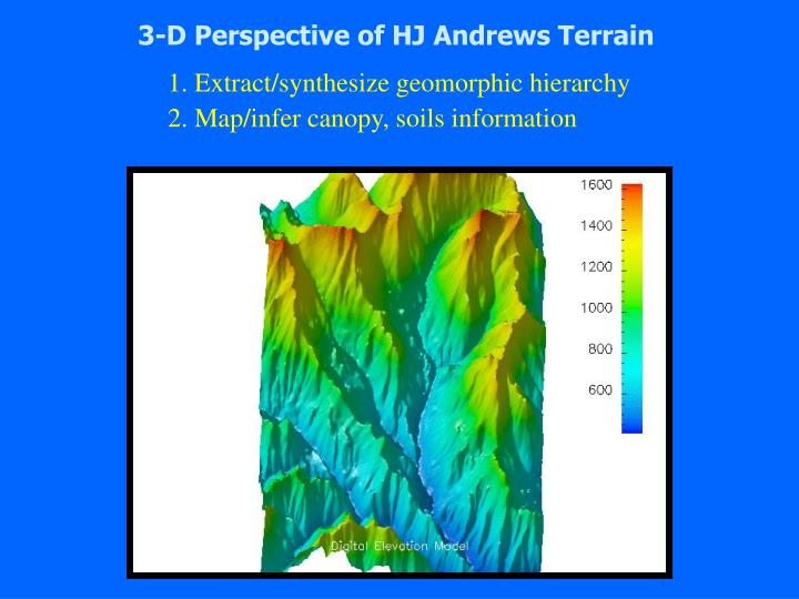 3-D Perspective of HJ Andrews Terrain