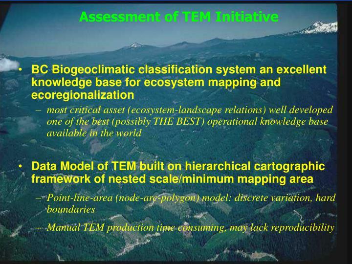 Assessment of TEM Initiative