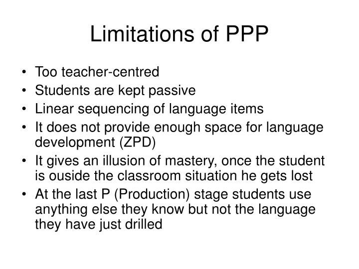 Limitations of PPP