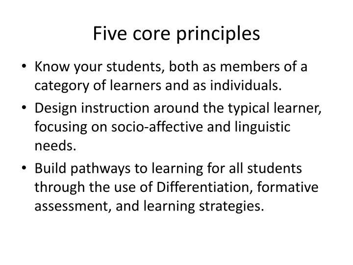 Five core principles