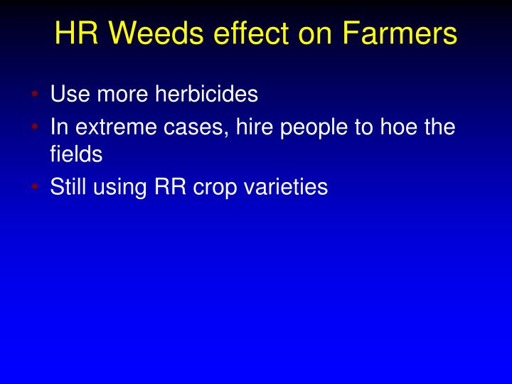 HR Weeds effect on Farmers