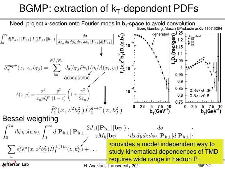 BGMP: extraction of k