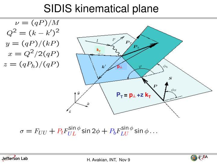 SIDIS kinematical plane